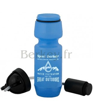 SPORT BERKEY : Purificateur d'eau - Modèle de 0,6 litre - Vue avec filtre (Réf. : SPRT).