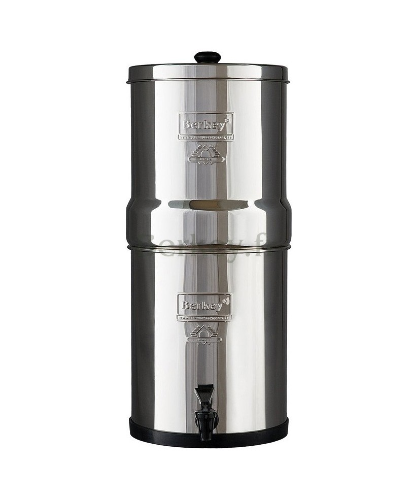 BIG BERKEY : Purificateur d'eau par gravité - Modèle de 8,5 litres (Réf. : BK4X2-BB).