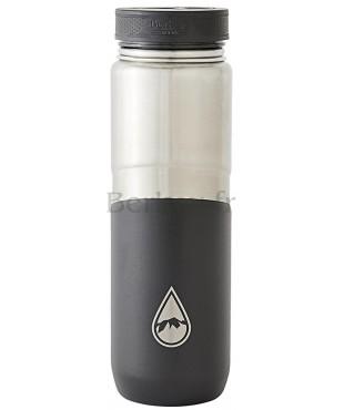 GOURDE ISOTHERME EN INOX - 0,76 litres : Couleur noire