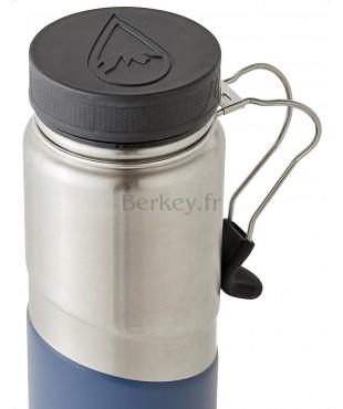 GOURDE BERKEY ISOTHERME EN INOX : 0,76 litres -  Couleur bleue - Vue de dessus - Marque BERKEY.