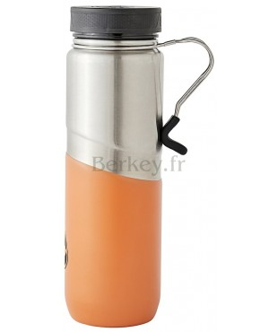 GOURDE ISOTHERME EN INOX - 0,76 litres : Couleur orange