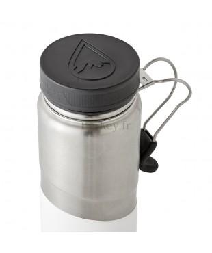 GOURDE BERKEY ISOTHERME EN INOX : 0,76 litres -  Couleur blanche - Vue de dessus - Marque BERKEY.