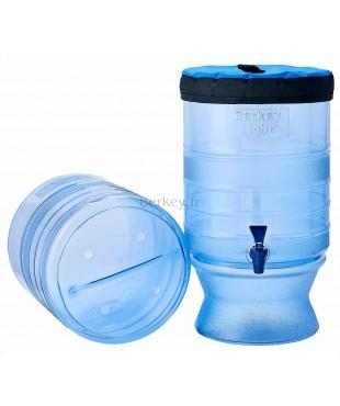 BERKEY LIGHT : Purificateur d'eau par gravité - Modèle de 10,4 litres - Cuves, socle et couvercle (Réf. : BL4X2-BB).