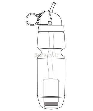 Gourde SPORT BERKEY : 0,6 litre - Vue en coupe (Réf. : SPRT).